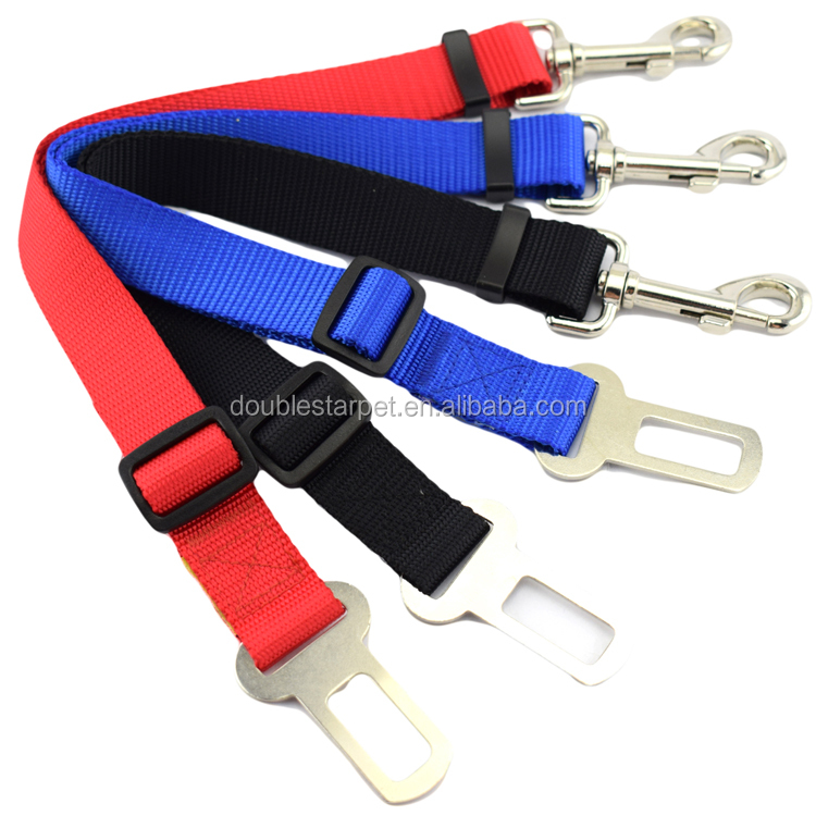 High Quality Pure Color Pet Dog Cat Car Vehicle Seat Belt Safety Leads