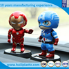 big head captain oem plastic action figure, the hero plastic action figure, making custom pvc action figure
