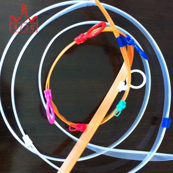 Good quality colored plastic slider zipper for vacuum bag