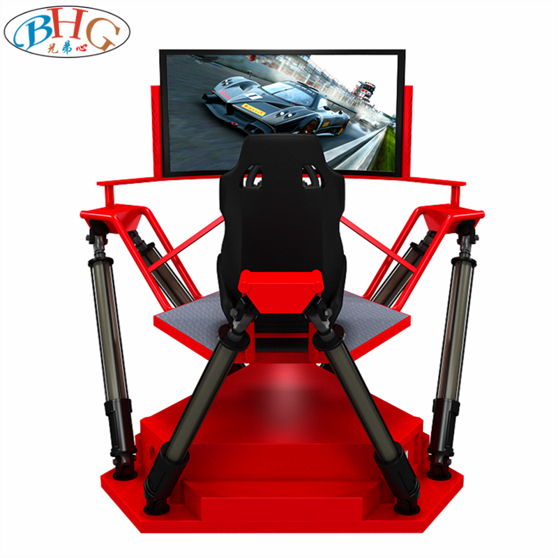 high quality 55''' HD screen 360 degree 6 dof vr driving simulator speed racing car games