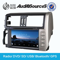 car dvd for Toyota prado 2014 with Radio,GPS,DVD,SD,USB,AUX,Bluetooth,1080P,DIY wallpaper