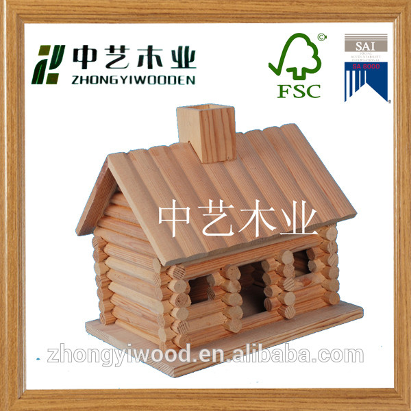 Trade assurance customized small cute hanging outdoor decoration wooden bird house nest wholesale