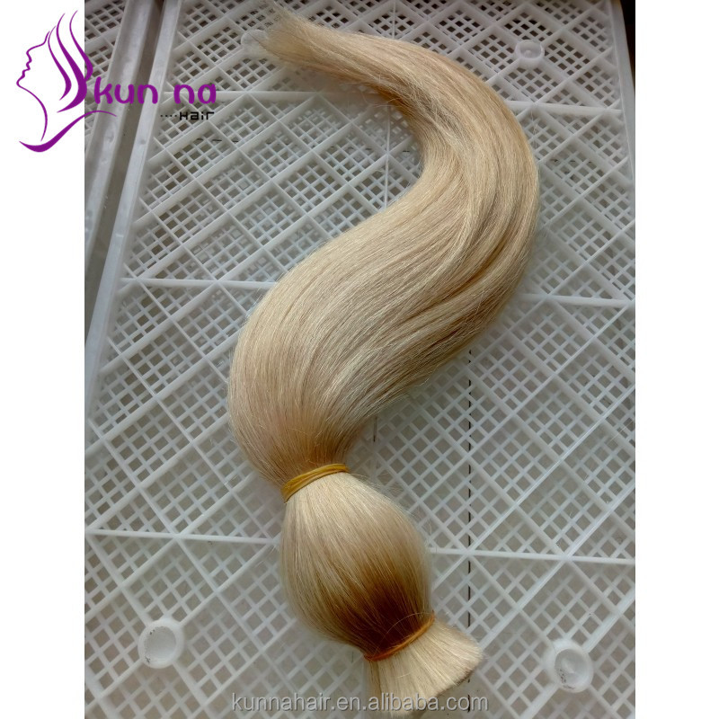 Wholesale Factory Brazilian Virgin Human Bulk Hair for Wig Making Soft hair extension
