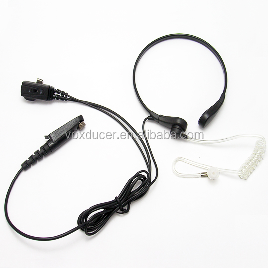 Noise cancelling Vox throat microphone for Motorola wireless radio EX500 EX600 GL2000 GP328plus