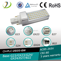 led lights 8w 4 pins g24 pl 9w 6400k light