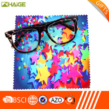 customized logo printed microfiber sunglasses lens cleaning cloth