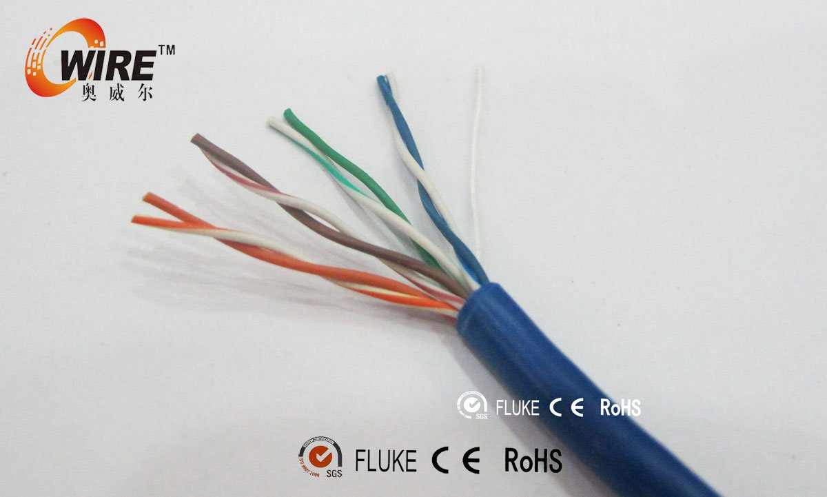 high quality pvc jaket cat 5e copper low voltage electrical cable price with UL
