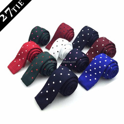 New popular polyester knitted dots neck tie products made in china
