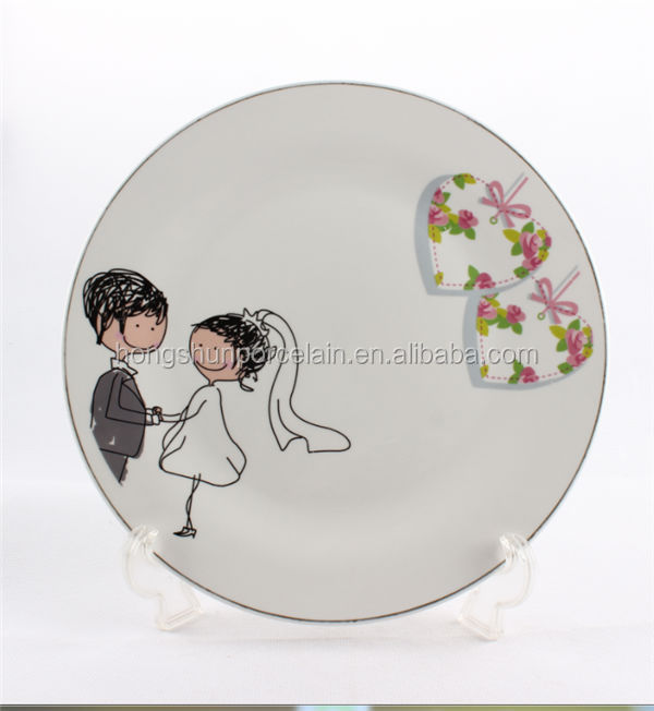 cinderella carriage wedding / porcelain dishes / cheap charger plates