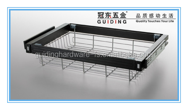 Wardrobe accessories pull out wire basket drawer
