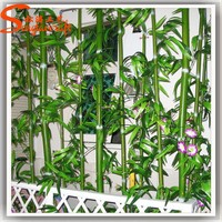 indoor/outdoor hotel lobby decoration bamboo plant stand bamboo poles cheap artificial artificial bamboo screen decoration