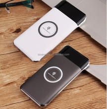Dual input (micro usb/type c) dual output(usb cable /wireless) power bank quick charger for Mobile phone
