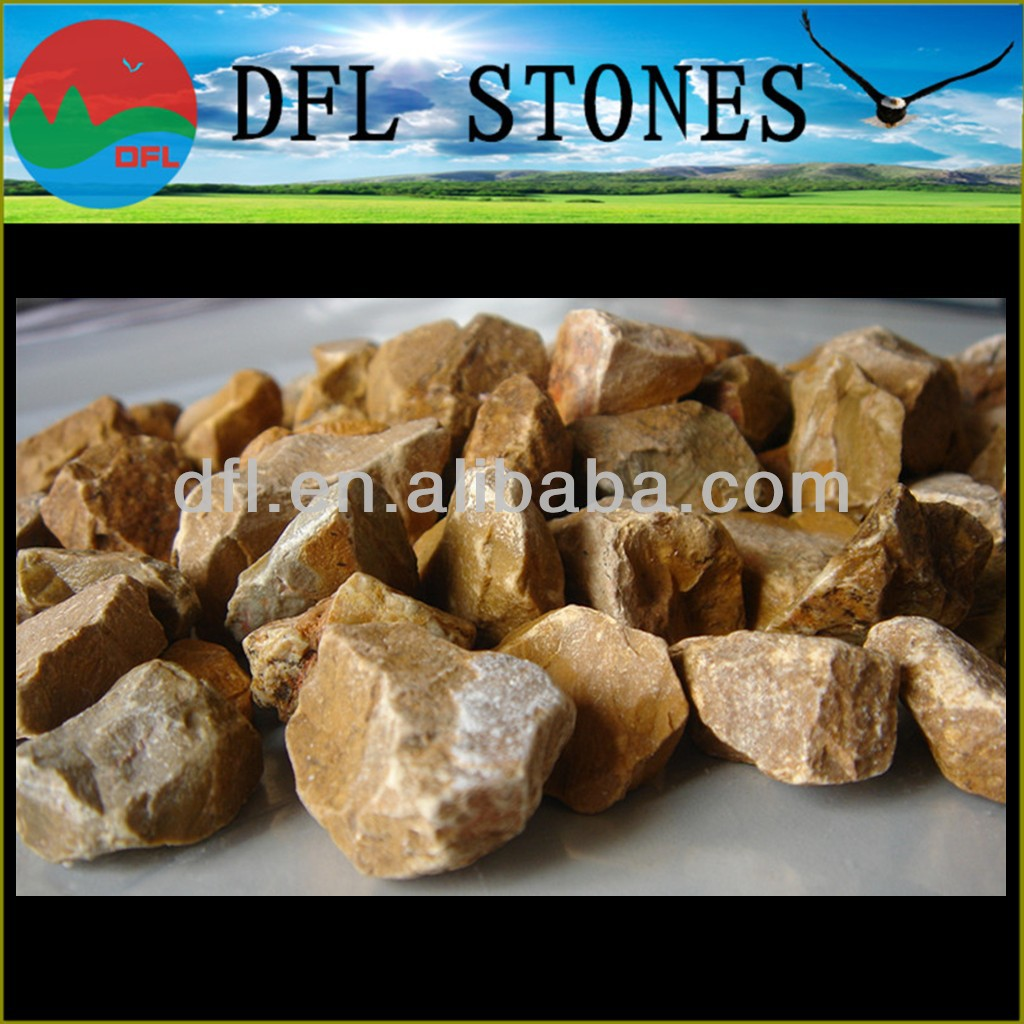 hot sale natural color gravel/yellow pebble