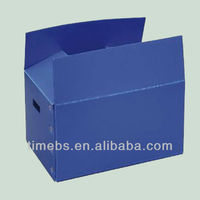 Collapsible fluted plastic box