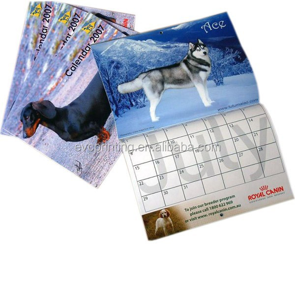 Cheap Promotional Wall Calendar Printing