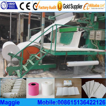 2 ton per day samll toilet tissue making machine line from recycled products ,recycling machinery