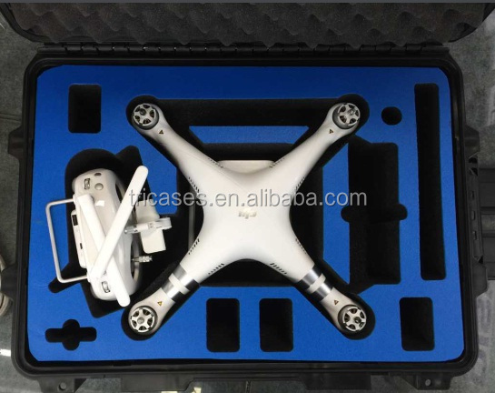 Custom eva foam tricases dji drone 3 case hard plastic waterproof for dji phantom 3 case