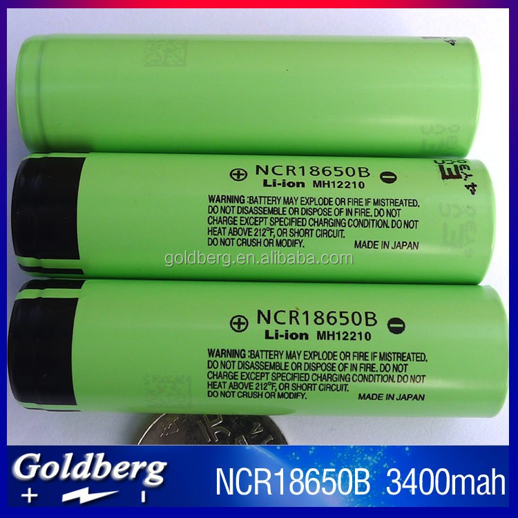 Best quality NCR 18650B 3400mah 3.7v high discharge Li-ion battery 18650 battery