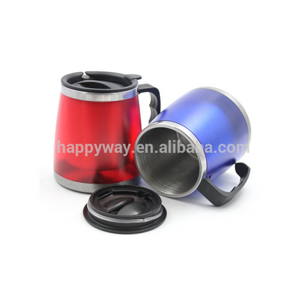 double wall thermo colorful stainless steel office cup MOQ100PCS 0301035