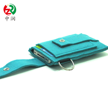 Alibaba the newest fashion low price cell phone sleeve trending felt phone cover with key organizer