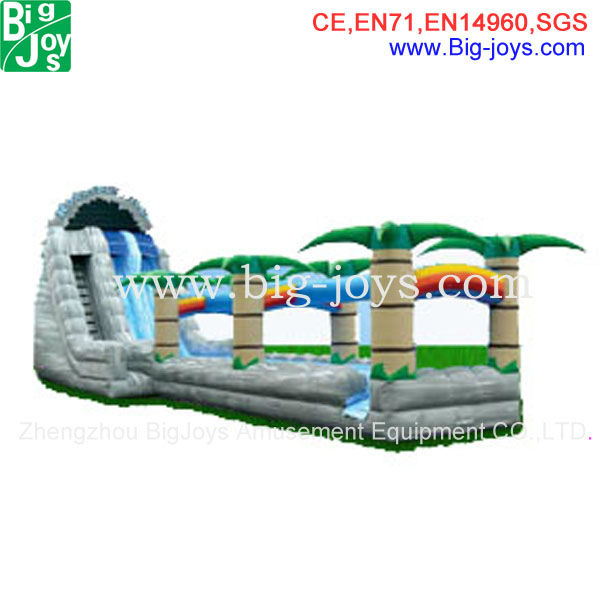 Hot sale crazy inflatable water slide blower,inflatable water park slides for adult