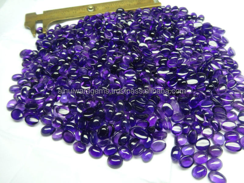 african amethyst gem stone 6x8 Natural Amethyst cabs