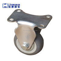 100mm rubber casters fixed industrial small rubber caster wheel