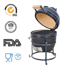 "High Productivity 13"" Outdoor Ceramic Kamado Mini Charcoal BBQ Grill"