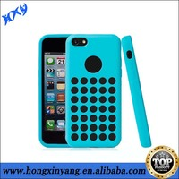 HXY Latest dot hole soft cover for apple iphone 5c tpu case