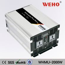 Dc-AC 2000w solar power inverter 12vdc to 220vac ups inverter with charger