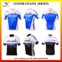 Custom Made Sublimation Professional Short Cycling jerseys with short zipper