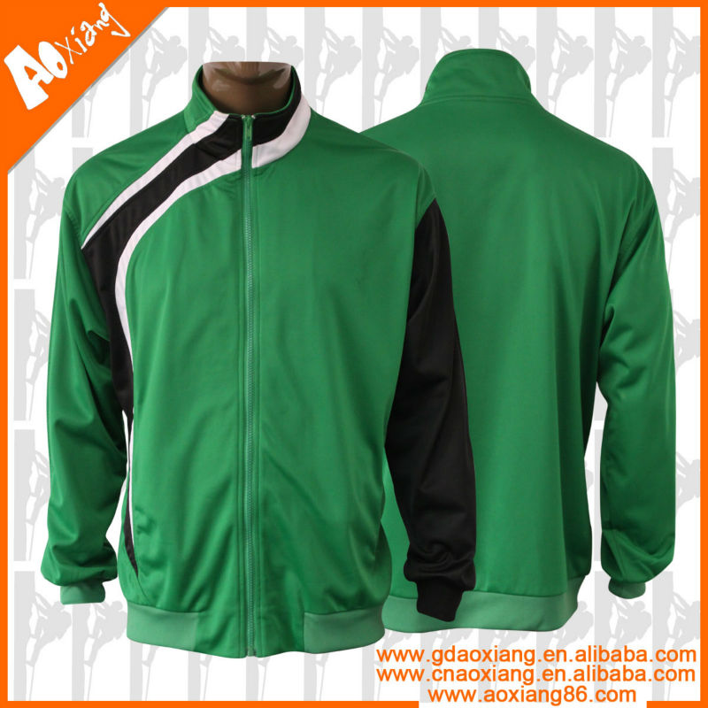 green and white tracksuit