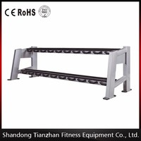 Two layer 10 pairs dumbbell rack / commercial gym equipment / fitness equipment