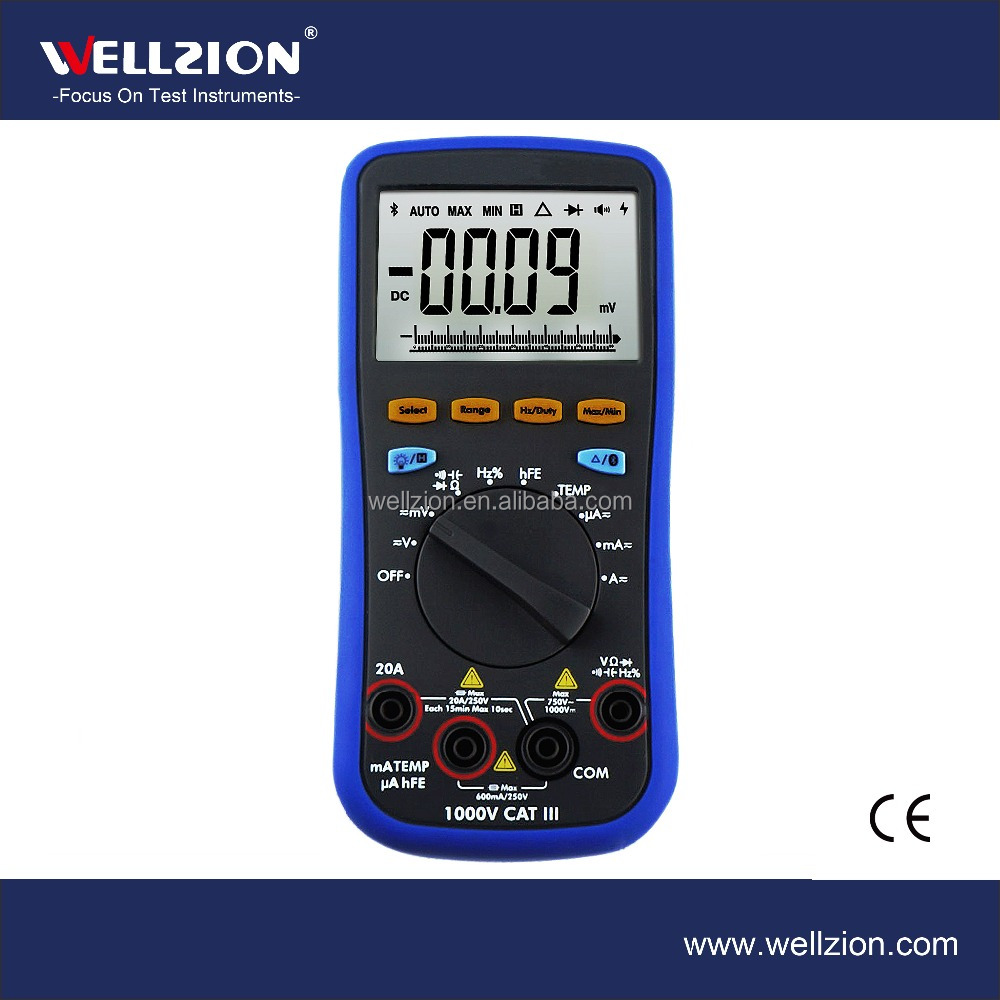 B35T,6000 Counts True RMS Bluetooth Multimeter