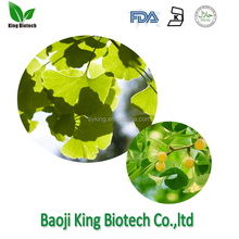 Natural Plant Raw Material Ginkgo Biloba Extract 24% Total Flavone Glycosides 6% Total Lactones Ginkgolic Acid