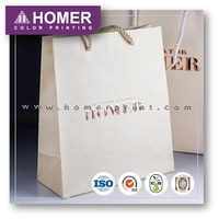 Personalized Printed Large 4C Make Up Soft Touch Custom Paper Bag