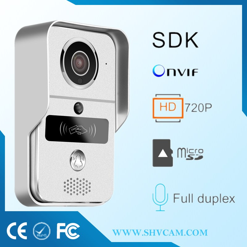 Best selling 2017 luckarm wireless ip doorbell wifi with doorbell via real time video