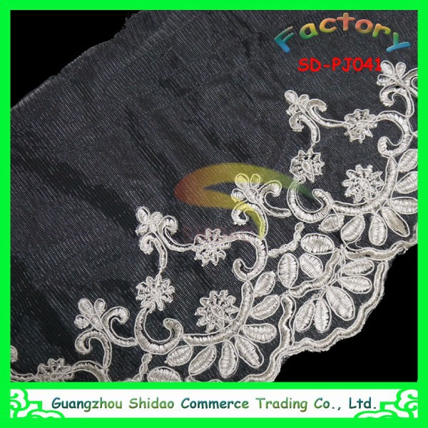 Embroidery fabric bridal wedding embroidered floral lace trim