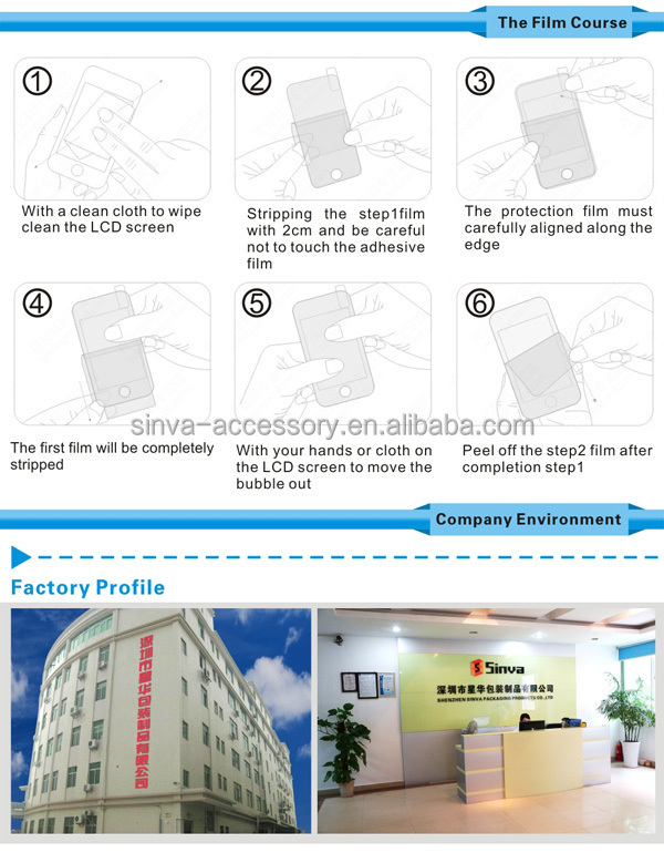 Sinva factory Anti- scratch privacy tempered glass screen protector for iphone 4 5 6 6 Plus