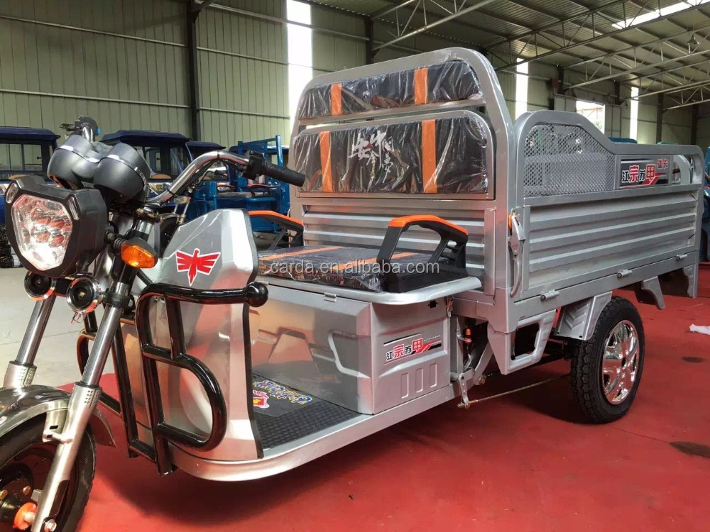 Electric powered three wheel cargo bike for sale/three wheeler used cargo trike with rear axle for sale