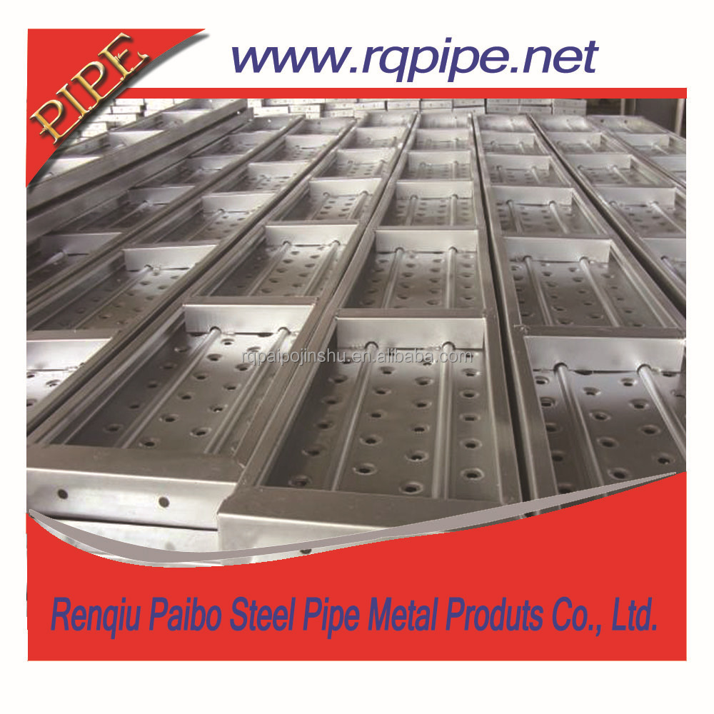 High quality scaffolding metal perforated steel plank with hook China supplier