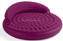 liviing room furniture intex 68881round shape inflatable air lounge sofa bed