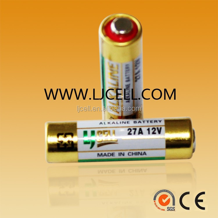 12v alkaline battery A23 23A A27 27A primary dry battery 12volts in bulk packing or blister card packing