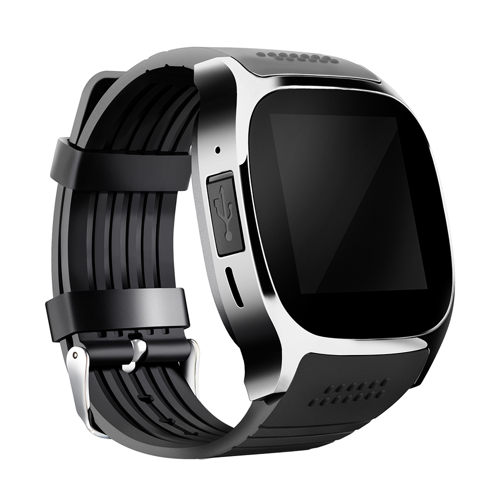 NEW ARRIVAL T8 Smart Watch Bluetooth Card Phone Call Step Sleep Monitor Bluetooth Smart Watches USB2.0 For Android