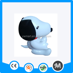 EN71 approved lovely inflatable snoopy dog for baby like