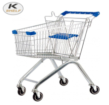 Supermarket Shopping Cart With Child Seat