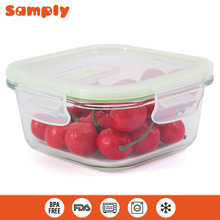 Glass food storage container fresh keeping box microwave lunch box