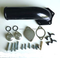 Powerstroke EGR Delete kit 08-10 6.4L delete pipe elbow aluminium black coated