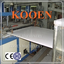 KOOEN full automiatic opreation making rigid pvc decorating board manufacturing unit