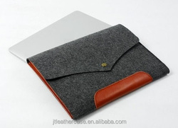 Hot selling Premium polyester felt case envelope style Pouch for macbook pro